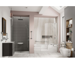 Trojan Bathe Easy Style Walk-in Shower Bath 1700mm x 750mm