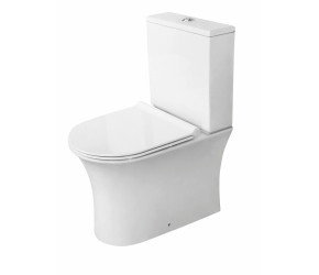 Iona Viva Rimless Closed Back Toilet Pan with Cistern & Soft Close Seat