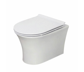 Iona Viva Rimless Wall Hung Pan with Soft Close Seat