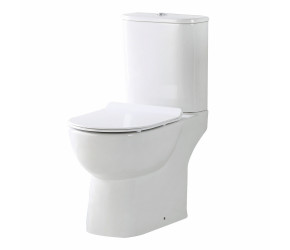 Iona Riva Rimless Open Back Toilet Pan with Cistern & Soft Close Seat