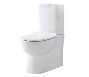 Iona Riva Rimless Closed Back Toilet Pan with Cistern & Soft Close Seat