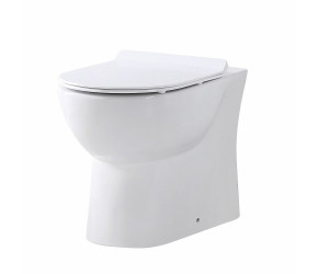 Iona Riva Rimless Back to Wall Pan & Soft Close Seat