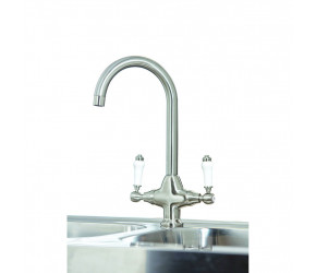 Iona KT3 Brushed Nickel Traditional Kitchen Tap