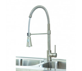 Iona KT8 Brushed Nickel Pull Out Kitchen Tap