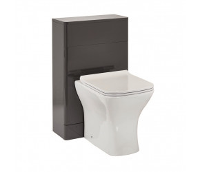 Iona Eve Wolf Grey Back to Wall Toilet WC Unit 500mm