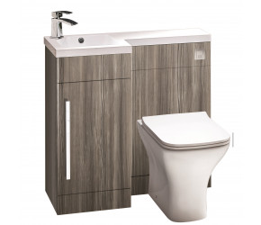 Iona Life Avola Grey 900mm Bathroom Combination Unit Left Hand