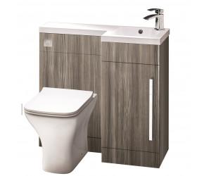 Iona Life Avola Grey 900mm Bathroom Combination Unit Right Hand