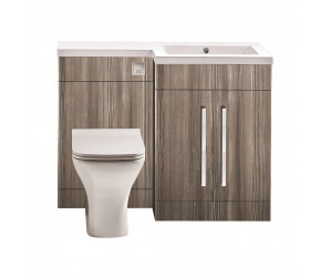 Iona Life Avola Grey 1100mm Bathroom Combination Unit Right Hand