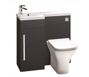Iona Life Matt Grey 900mm Bathroom Combination Unit Left Hand