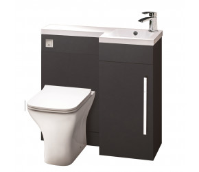 Iona Life Matt Grey 900mm Bathroom Combination Unit Right Hand