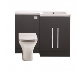 Iona Life Matt Grey 1100mm Bathroom Combination Unit Right Hand