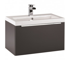 Iona Supreme Matt Grey Wall Hung Bathroom Vanity Unit and Basin 600mm