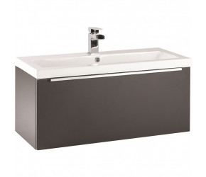 Iona Supreme Matt Grey Wall Hung Bathroom Vanity Unit and Basin 800mm