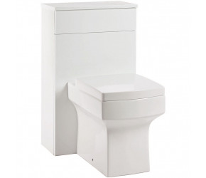 Iona Supreme Gloss White Back To Wall WC Toilet Unit 500mm