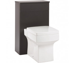Iona Supreme Matt Grey Back To Wall WC Toilet Unit 500mm