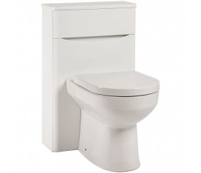Iona Contour Gloss White Back To Wall Toilet WC Unit 500mm