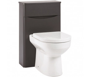 Iona Contour Matt Grey Back To Wall Toilet WC Unit 500mm