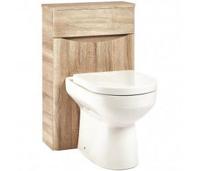Iona Contour Bardolino Driftwood Oak Back To Wall Toilet WC Unit 500mm