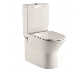 Iona Life Rimless Closed Back Toilet Pan with Cistern and Soft Close Seat