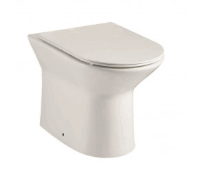 Iona Life Rimless Back To Wall Toilet Pan with Soft Close Seat