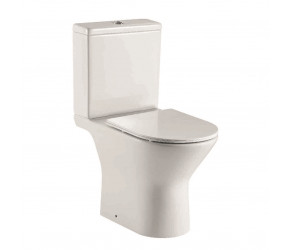 Iona Life Rimless Open Back Toilet Pan with Cistern and Soft Close Seat