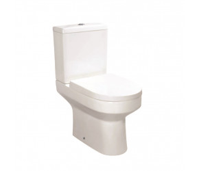 Iona Omni Comfort Height Open Back Pan with Cistern and Soft Close Seat