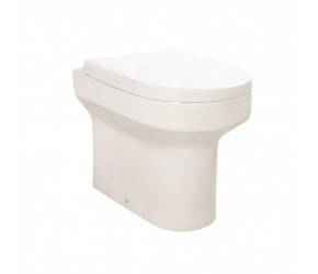 Iona Omni Back To Wall Toilet Pan with D Shape Soft Close Seat