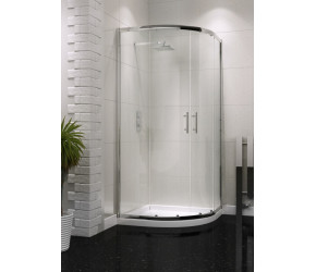 Iona A6 Easy Clean Double Door Offset Quadrant Shower Door 900mm x 760mm