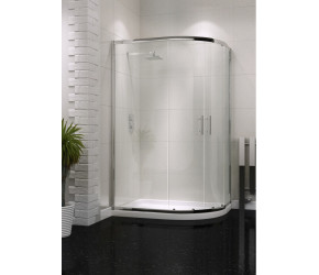 Iona A6 Easy Clean Double Door Offset Quadrant Shower Door 1000mm x 800mm