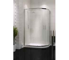 Iona A6 Easy Clean Double Door Offset Quadrant Shower Door 1200mm x 800mm