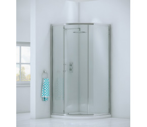 Iona A6 Easy Clean Single Door Offset Quadrant Shower Door 1200mm x 800mm