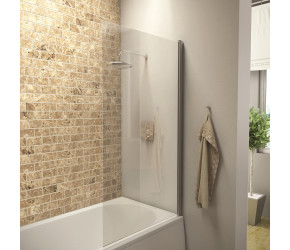 Iona A6 Easy Clean 6mm Square Edge Bath Screen 1400mm x 800mm