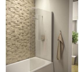 Iona A6 Easy Clean 6mm Radius Edge Bath Screen 1400mm x 800mm