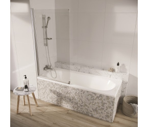 Iona A6 Easy Clean 6mm Single Arm Panel Bath Screen 1500mm x 800mm