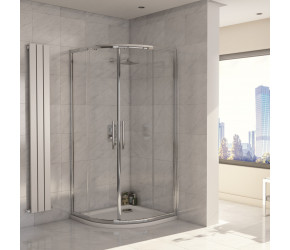 Iona A8 Easy Clean 8mm Glass Double Door Quadrant Shower 900mm