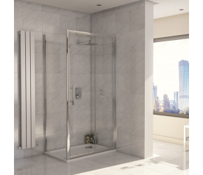Iona A8 Easy Clean 8mm Glass Sliding Shower Door 1100mm
