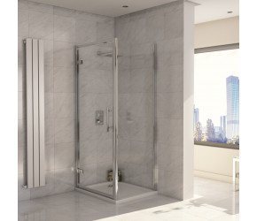 Iona A8 Easy Clean 8mm Glass Hinge Shower Door 900mm