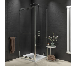 Iona A8 Easy Clean 8mm Glass Infold Shower Door 760mm