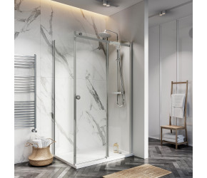 Iona A8 Easy Clean 8mm Glass Frameless Sliding Shower Door 1400mm