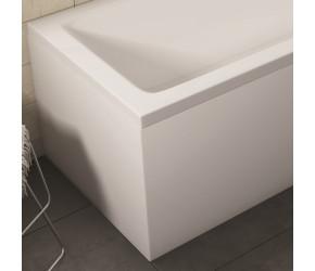 Iona White Gloss Waterproof End Bath Panel 1700mm