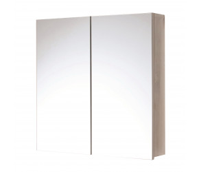 Iona Double Door Stainless Steel Mirror Cabinet 600mm x 600mm