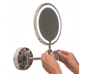 Iona Round LED Wall Mounted Make-Up Mirror 200mm
