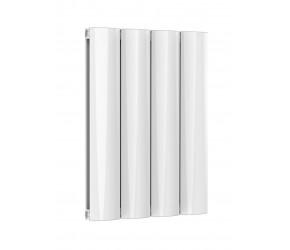 Reina Belva White Aluminium Double Panel Horizontal Radiator 600mm x 412mm