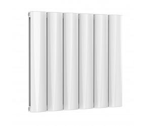 Reina Belva White Aluminium Double Panel Horizontal Radiator 600mm x 620mm