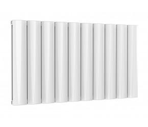 Reina Belva White Aluminium Double Panel Horizontal Radiator 600mm x 1036mm