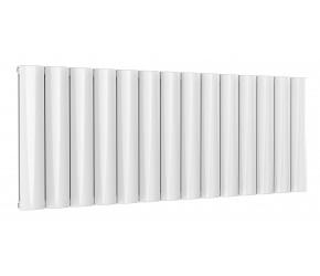 Reina Belva White Aluminium Double Panel Horizontal Radiator 600mm x 1452mm