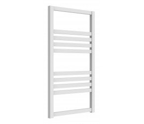 Reina Bolca White Aluminium Designer Heated Towel Rail 870mm x 485mm