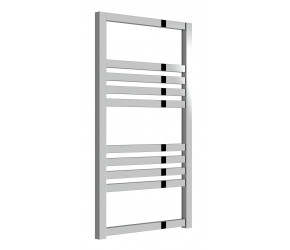 Reina Bolca Polished Aluminium Designer Heated Towel Rail 870mm x 485mm