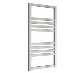 Reina Bolca Brushed Aluminium Designer Heated Towel Rail 870mm x 485mm