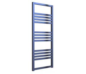 Reina Bolca Blue Satin Aluminium Designer Heated Towel Rail 1200mm x 485mm